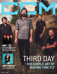 Third Day, Britt Nicole, Red, CCM Magazine - image